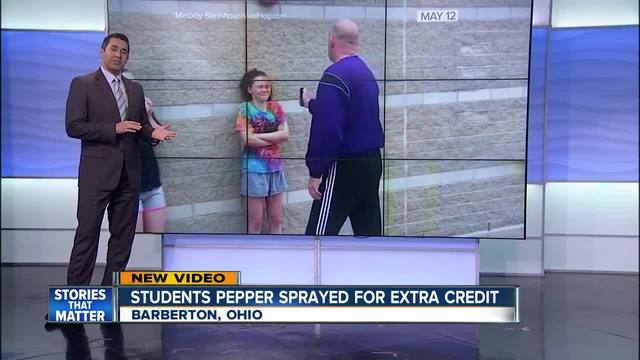 Students Volunteer to Get Pepper Sprayed