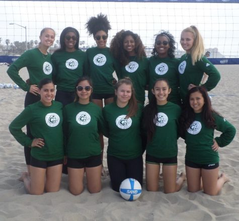 Helix Competes in Beach Volleyball