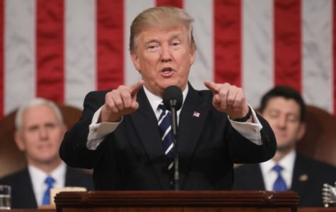 President Donald J. Trump delivers his first address to the U.S. Congress