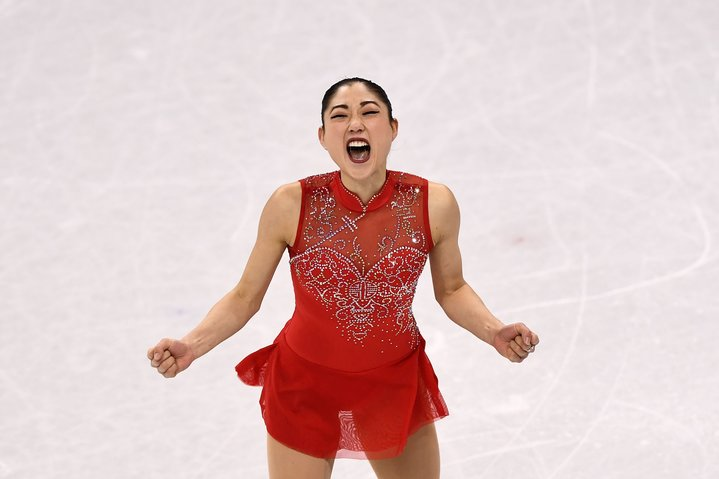 TOPSHOT+-+USA%27s+Mirai+Nagasu+competes+in+the+figure+skating+team+event+women%27s+single+skating+free+skating+during+the+Pyeongchang+2018+Winter+Olympic+Games+at+the+Gangneung+Ice+Arena+in+Gangneung+on+February+12%2C+2018.+%2F+AFP+PHOTO+%2F+ARIS+MESSINIS++++++++%28Photo+credit+should+read+ARIS+MESSINIS%2FAFP%2FGetty+Images%29