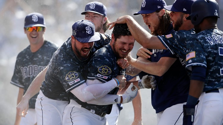 Hunter Renfroe Hits Walk-Off Grand Slam to Beat Dodgers