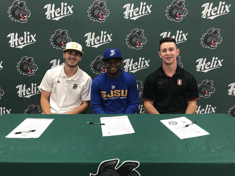 From Helix Baseball Stars to College Ball Players