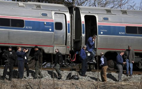 Amtrak Carrying GOP Members Hits Garbage Trucks