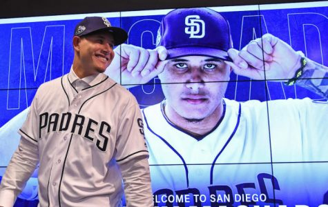 Feb 22, 2019; Peoria, AZ, USA; The San Diego Padres officially introduced all-star free agent Manny Machado (13) at a press conference at the Peoria Sports Complex. Mandatory Credit: Jayne Kamin-Oncea-USA TODAY Sports