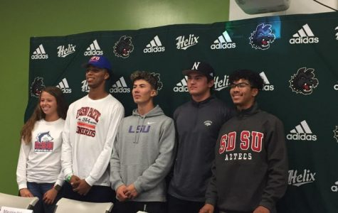 Helix student-athletes look forward to the next jersey on National Letter of Intent Signing Day